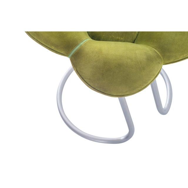 Edra Soshun Low Stools in Green Velvet by Masanori Umeda For Sale - Image 10 of 11