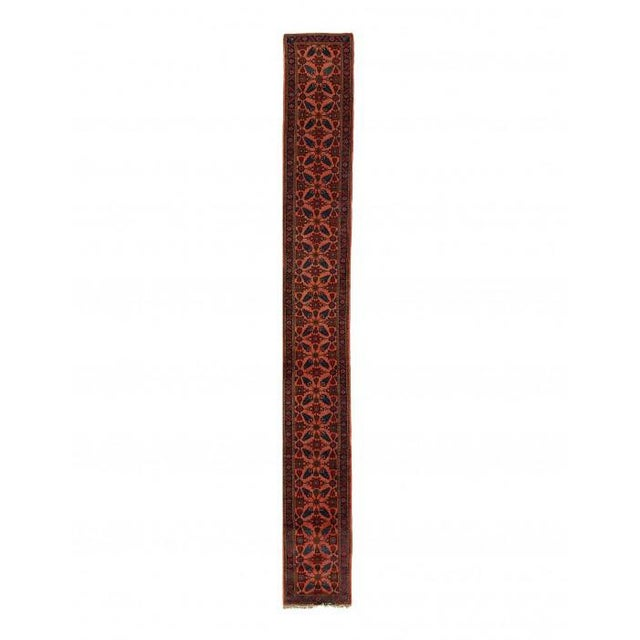 Textile Pasargad Rust Persian Hand Knotted Lilihan Runner For Sale - Image 7 of 7