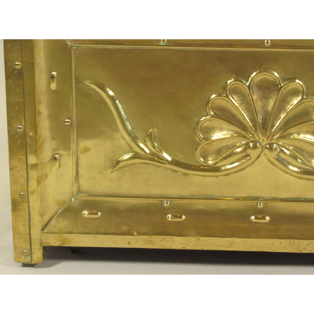 Brass 19th Century Swedish Brass Wood Box For Sale - Image 7 of 8