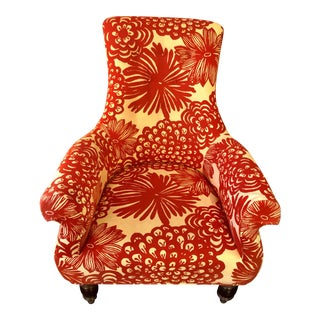 Modern Anthropologie Floral Astrid Accent Arm Chair For Sale