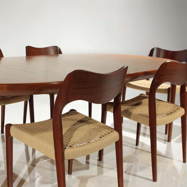 Presenting this absolutely stunning Dining Set consisting of Chairs by Niels Otto Møller and Table by VV Møbler of...