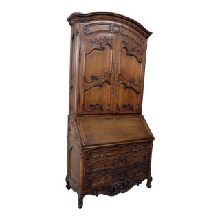 Early 20th Century Vintage Don Rousseau Country French Secretary Desk For Sale
