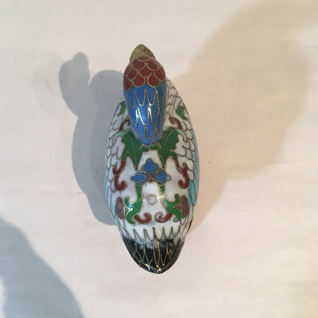 Vintage Chinese Cloisonné Enameled Brass Duck For Sale In Kansas City - Image 6 of 7