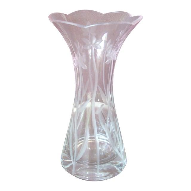 Vintage Lenox Clear Crystal Vase Chairish