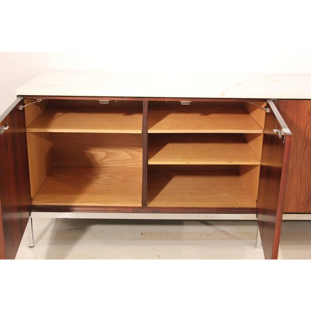 Knoll Rosewood Marble-Top Credenza - Image 4 of 9