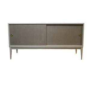 Bishop Linen Door Console For Sale