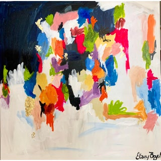 """""""My House"""" Contemporary Abstract Expressionist Painting by Ebony Boyd For Sale"""