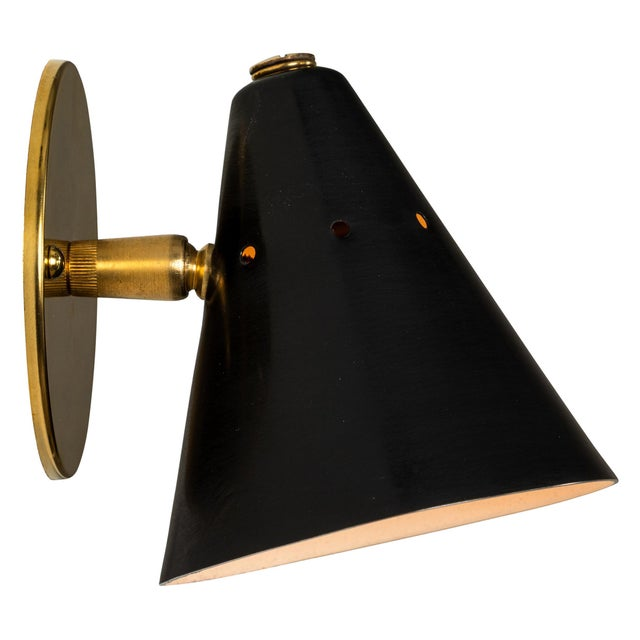1950s Italian Perforated Cone Sconce in the Manner of Arteluce For Sale - Image 12 of 12