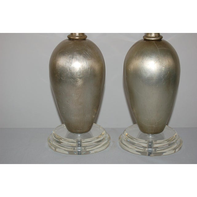 Swank Lighting Plaster Table Lamps by Swank Champagne For Sale - Image 4 of 9
