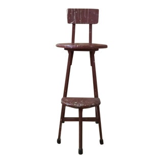 1930s Antique Industrial Shop Stool For Sale