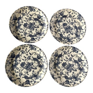 Biltons Blue and White Chintz Dinner Plates- Set of 4 For Sale