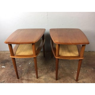 Peter Hvidt MCM Solid Teak End Table - A Pair
