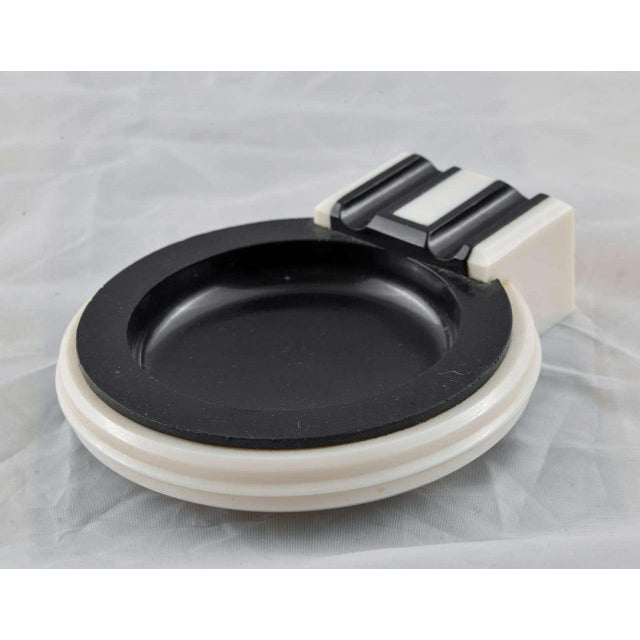 Black Art Deco Collection Iconic Catalin / Bakelite Tableware (Large Cunard SOLD) For Sale - Image 8 of 11