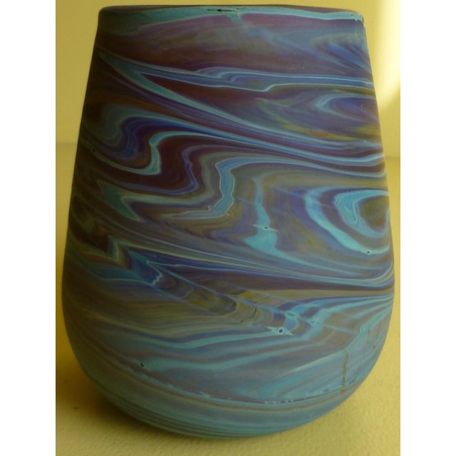 Mid Century Studio Art Glass Vase For Sale - Image 10 of 13