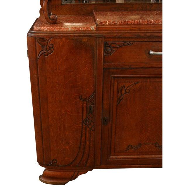 Brown 1920s Antique Art Deco Oak Buffet For Sale - Image 8 of 8