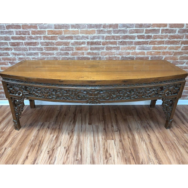 Antique Chinese Carved Writing Desk For Sale In Washington DC - Image 6 of 9
