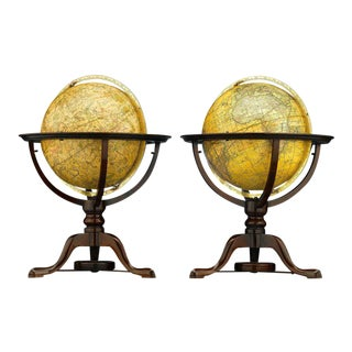 Pair of Globes by Dudley Adams