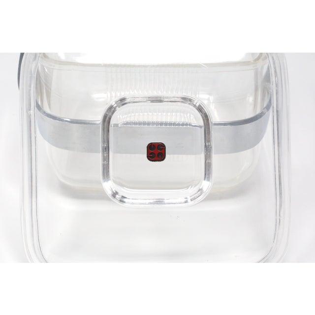 Transparent Vintage Acrylic Guzzini Ice Bucket For Sale - Image 8 of 11