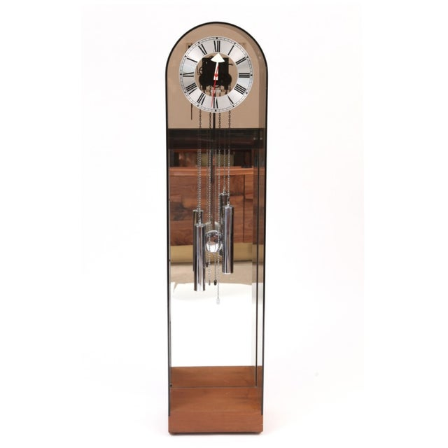 1970 Vintage Howard Miller Smoked Lucite Clock - Image 2 of 7