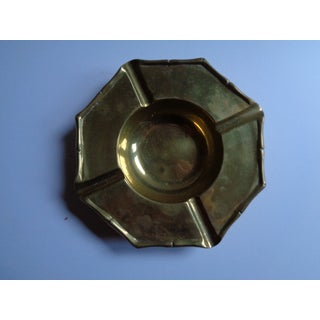 Mid-Century Heavy Brass Ashtrays - a Pair Preview