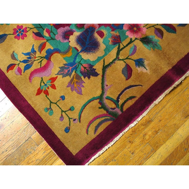 """1920s 1920s Chinese Art Deco Rug - 9'x11'8"""" For Sale - Image 5 of 9"""