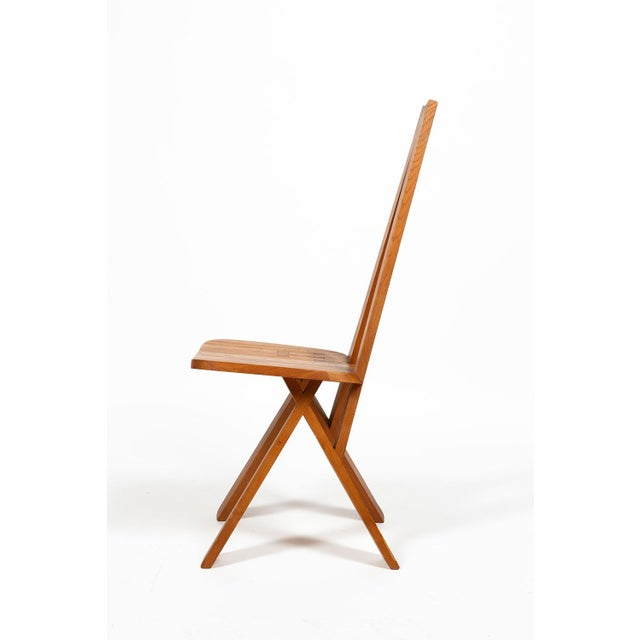 Pierre Chapo Four Chairs by Pierre Chapo S45 in Solid Elm For Sale - Image 4 of 12
