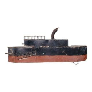 Vintage Metal Steamboat