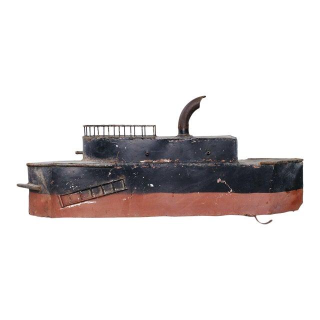 Vintage Metal Steamboat For Sale