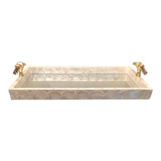Capiz Shell and Mirror Tray