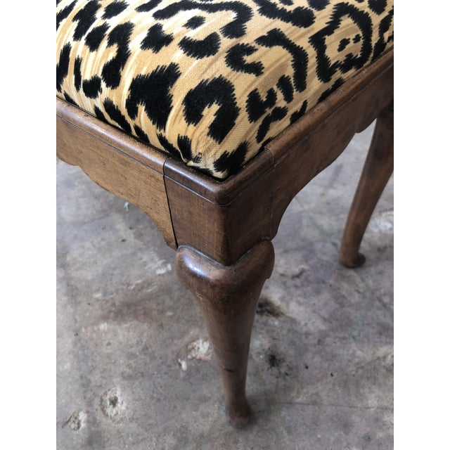 Traditional 1910s Traditional Leopard Print Low Stool For Sale - Image 3 of 10