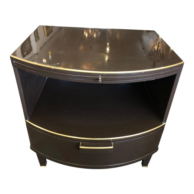 Deco Style Nightstand With Rounded Front For Sale