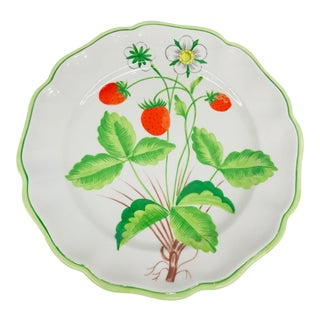 Italian Strawberry Serving Plate For Sale