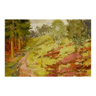 Impressionist Forest Landscape Painting For Sale