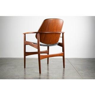 Sculptural Arne Hovmand-Olsen Danish Teak & Leather Arm Chair Preview