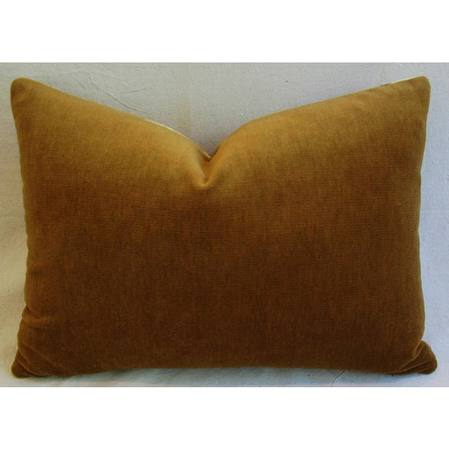 Italian Scalamandre Le Tigre Tiger Stripe & Mohair Pillow - Image 3 of 5