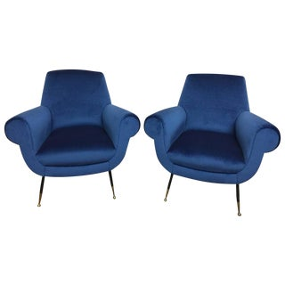 Gigi Radice Original Scrolled Armchairs - a Pair For Sale