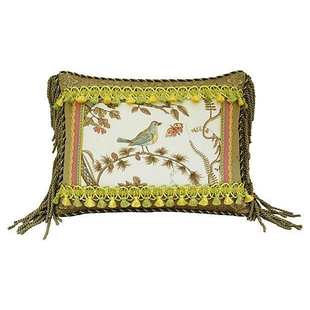 Custom Brunschwig & Fils Bird & Thistle Pillow - Image 4 of 5