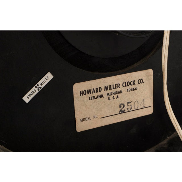 Aluminum George Nelson Clock for Howard Miller For Sale - Image 7 of 7