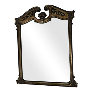 Antique Ebonized Giltwood Mirror