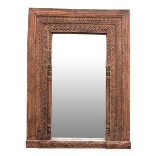 Antique Door Frame Floor Mirror