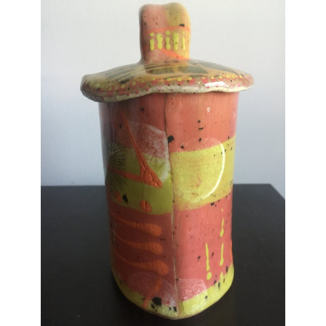 Ceramic 1970s Abstract Colorful Glazed Pottery For Sale - Image 7 of 12