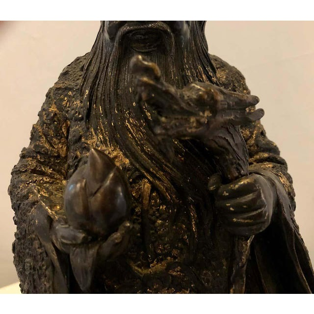 Early 20th Century 18th-19th Century Figure One of the Three Gods of Good Fortune For Sale - Image 5 of 13
