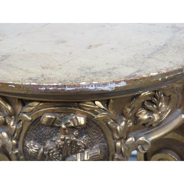 Gold Hollywood Regency Style Pedestal For Sale - Image 8 of 9