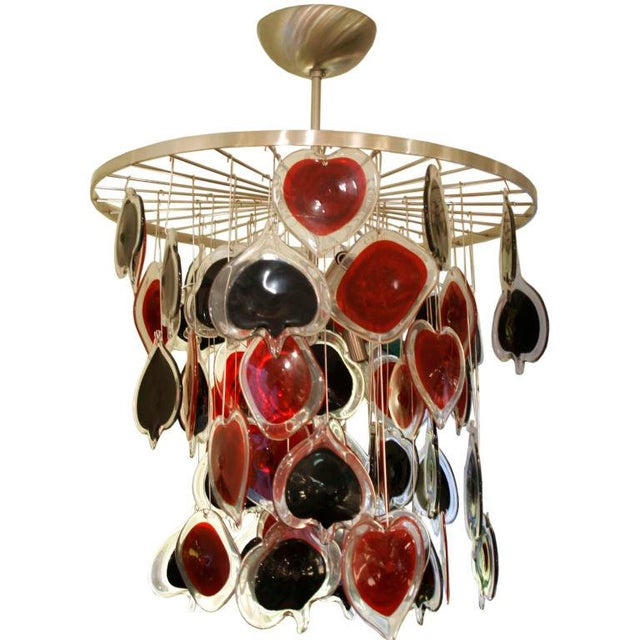 Art Glass Cenedese Poker Chandelier For Sale - Image 7 of 7