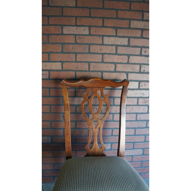 This splat back Chippendale side chair features authentic details capturing the essence of 18th century English and...