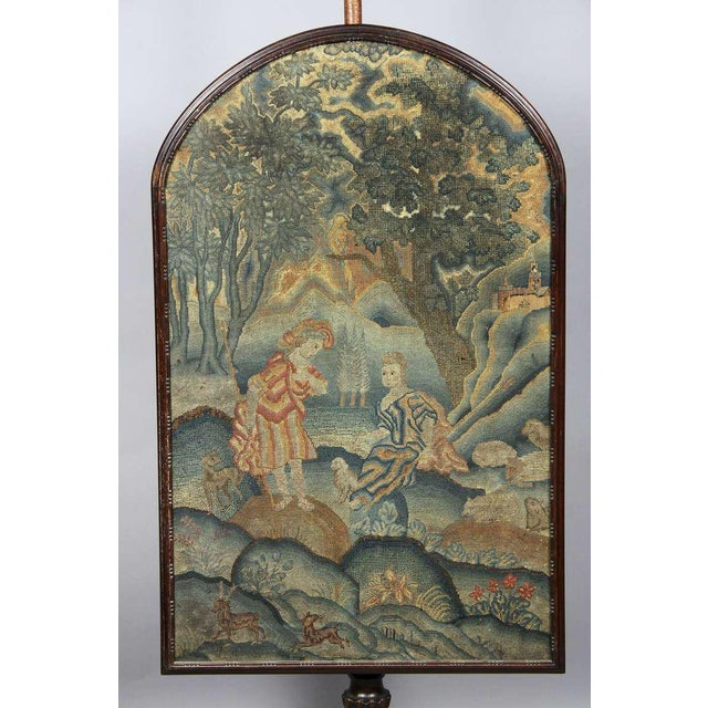 English Traditional George III Mahogany And Needlepoint Fire Screen For Sale - Image 3 of 8
