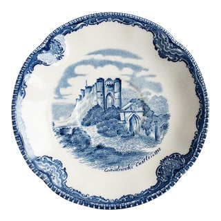 Blue and White Johnson Bros Saucer Catchall or Trinket Dish Carisbrooke England For Sale