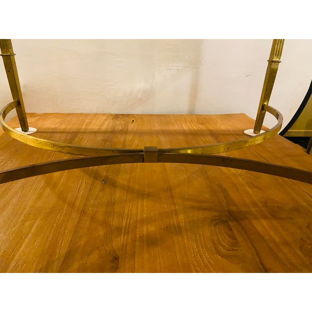 Hollywood Regency Granite Top on Brass Base Center Table For Sale In New York - Image 6 of 13