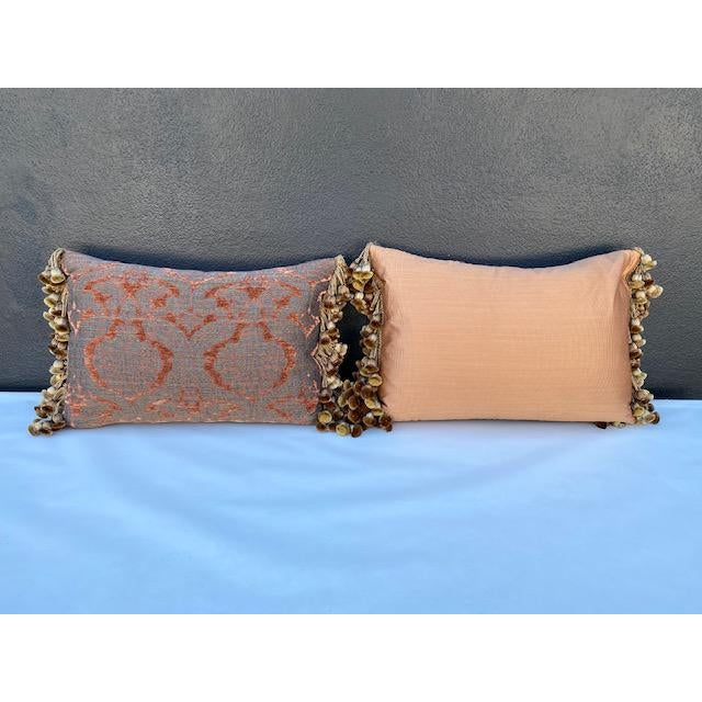 Traditional Chenille and Metal Thread Pillows - a Pair For Sale In Los Angeles - Image 6 of 9