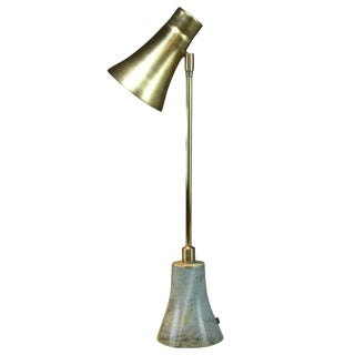 Evolution Contemporary Brass Table Lamp, Flow Collection For Sale